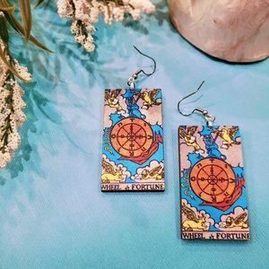 Wheel of Fortune Tarot Earrings